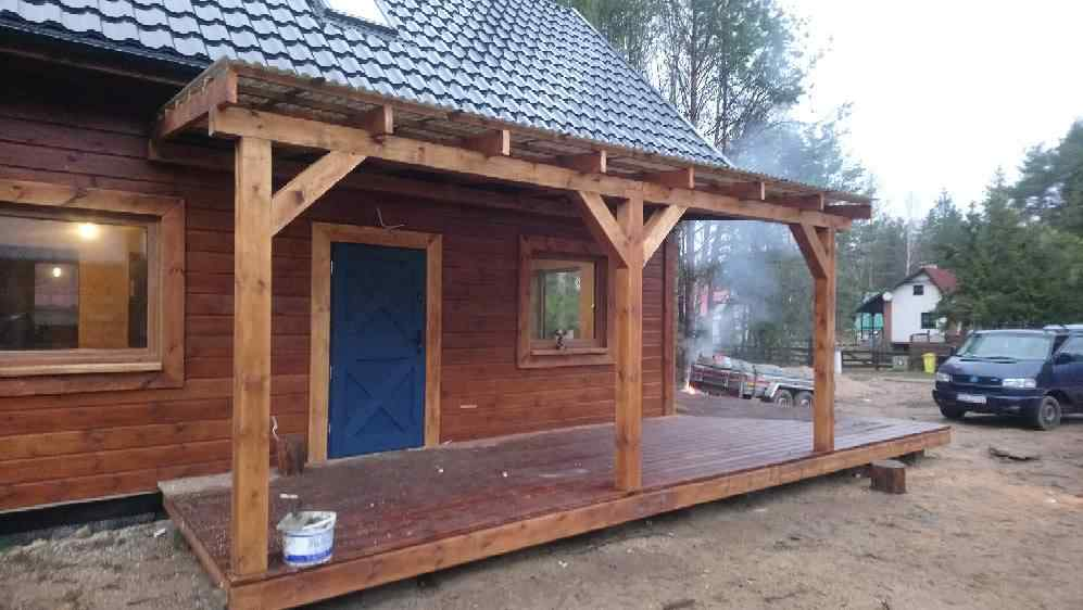Dom drewniany szkieletowy Gostomko